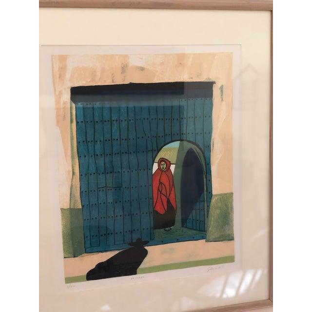 Modern Vintage Mid-Century Signed Gilberto Almeida Print For Sale - Image 3 of 7