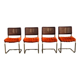 Chromecraft Cane Back Chairs - Set of 4 For Sale