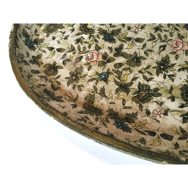 Antique Floral Papered Tray - Image 4 of 6