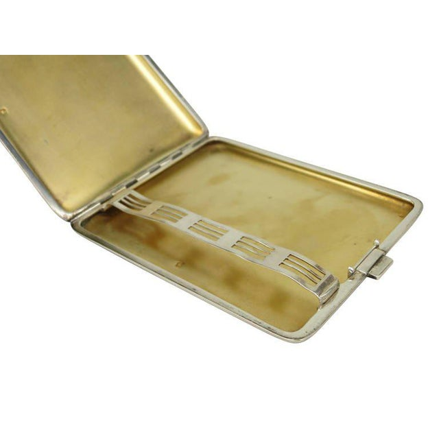 1930s Alfred Dunhill Sterling Silver Cigarette Case, Circa 1930 For Sale - Image 5 of 7