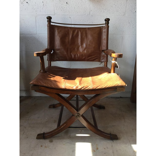 Safari Leather Side Chair - Image 4 of 4