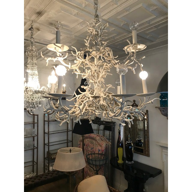 Vintage Faux Coral Chandelier - Image 10 of 10