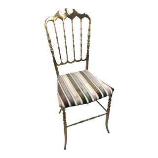 Vintage Brass Chiavari Chair For Sale