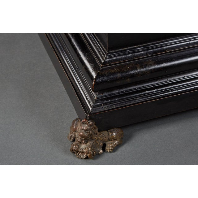 "An Imposing Ebonized Italian Wooden Baroque ""Coffretti"" For Sale - Image 4 of 8"