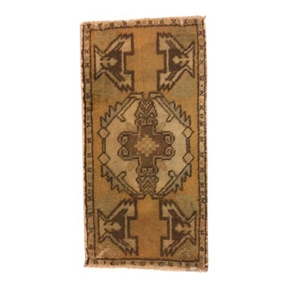 Vintage Handwoven Turkish Rug - 1′7″ × 3′2″