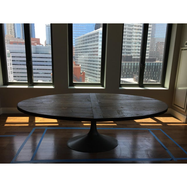 Restoration Hardware Aero Reclaimed Wood Dining Table | Chairish