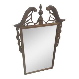 Antique Hand Carved Oak Mirror