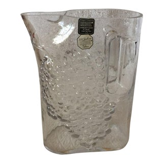 Signed Riedel Tyrol Crystal Pitcher For Sale