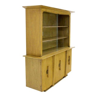 Mid-Century Modern Oriental Mahogany China Cabinet For Sale