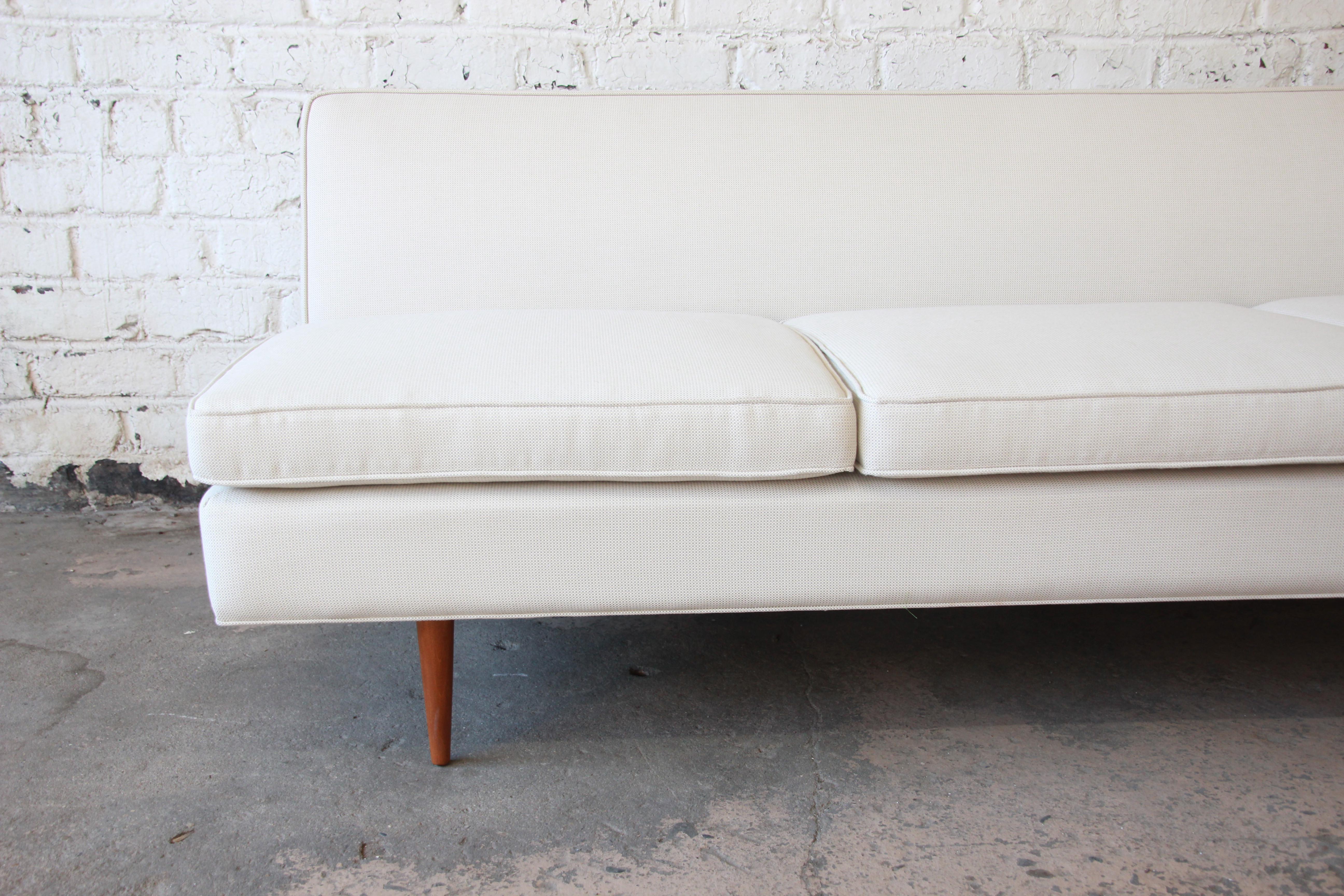 Paul McCobb Mid Century Modern Planner Group Armless Sofa, Newly Restored    Image 6