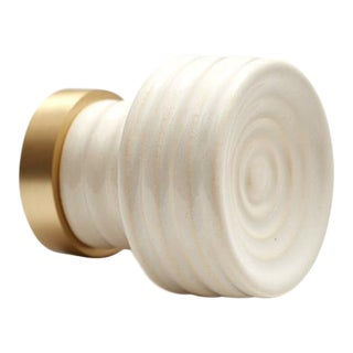 Nest Studio Collection Glaze-01 Soft White Knob For Sale