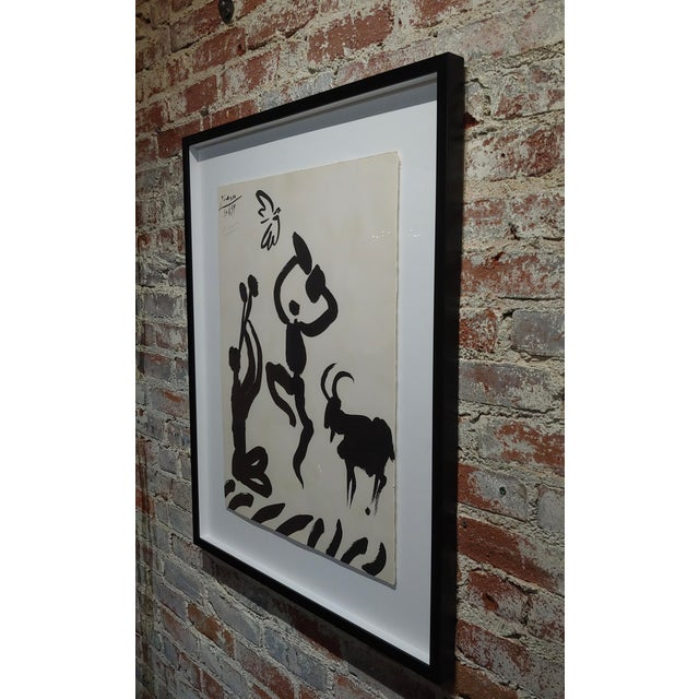 Pablo Picasso - Dancer & Goat - 1959 Lithograph -Pencil Signed For Sale In Los Angeles - Image 6 of 8