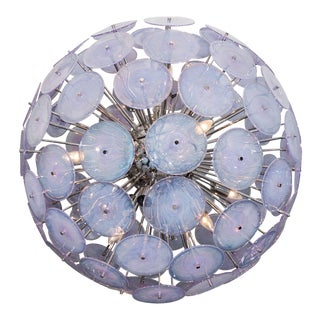 Iridescent Murano Glass Disc Sputnik Chandelier