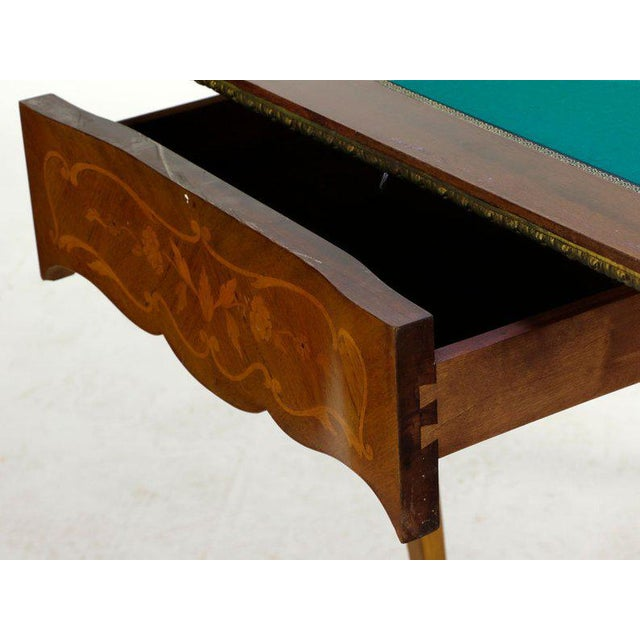 19th Century French Louis XVI Style Marquetry Game Table For Sale In Washington DC - Image 6 of 8
