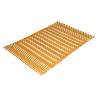 Daffodil Rug, 6x9, Yellow & White For Sale