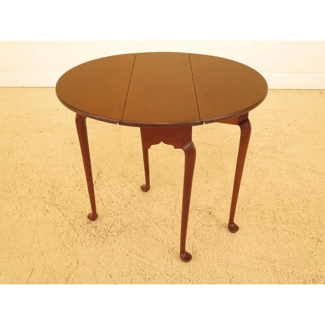 1990s Eldred Wheeler Cherry Queen Anne Drop Leaf Occasional Table For Sale - Image 5 of 13