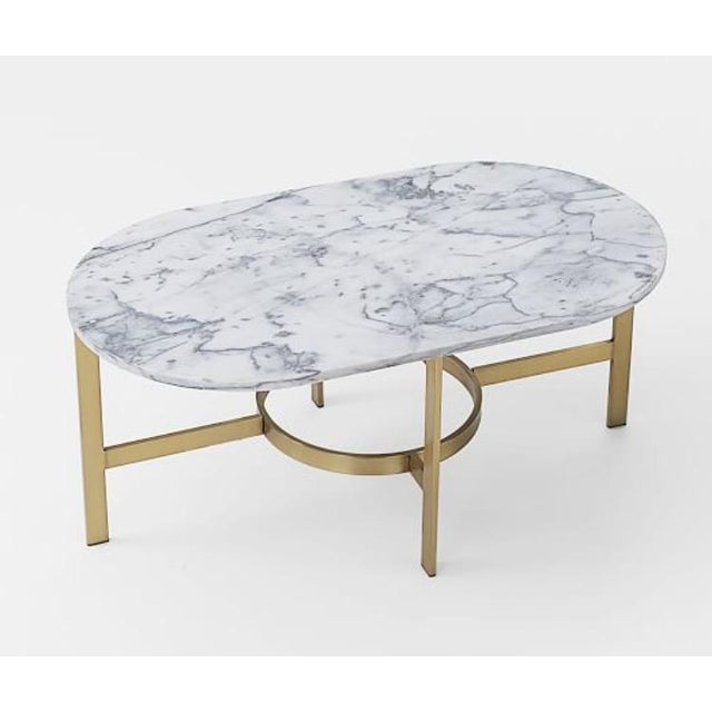 West Elm Marble Coffee Table - Image 2 of 6