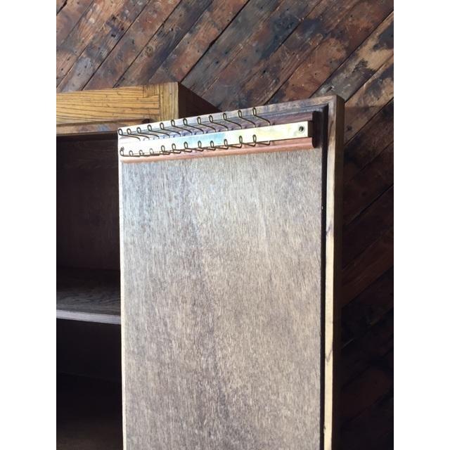 Vintage Wood and Cork Brutalist Armoire - Image 4 of 9