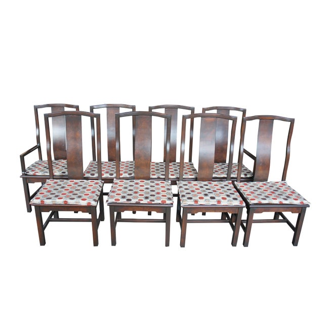 1970s Vintage Century Furniture Chinese Ming Style Burlwood Asian Dining Chairs- Set of 8 For Sale - Image 13 of 13