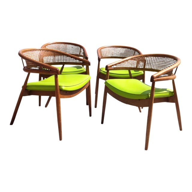 Thonet James Mont Bent Wood & Cane Armchairs - Set of 4 - Image 1 of 5