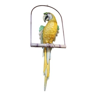 Sergio Bustamante Parrot On Perch For Sale