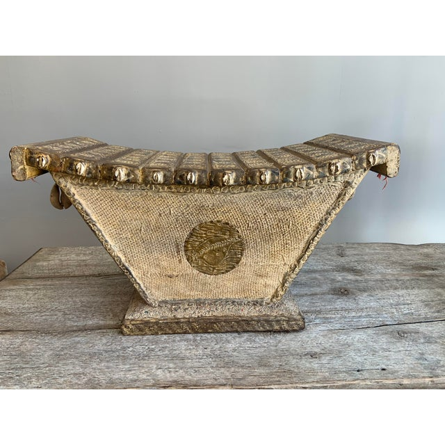 Rare Ashanti Stool With Inlayed Beads and Sea Shells For Sale In San Francisco - Image 6 of 6
