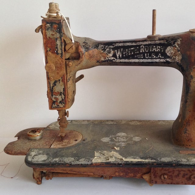 Antique White Rotary Sewing Machine - Image 4 of 4