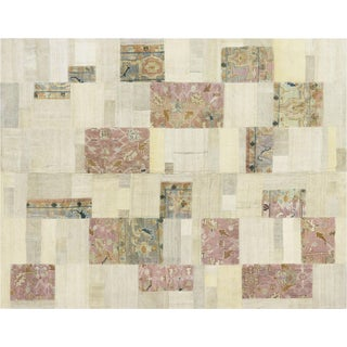 "Nalbandian - 1950s Turkish Patchwork Kilim - 7'10"" X 9'1"" For Sale"
