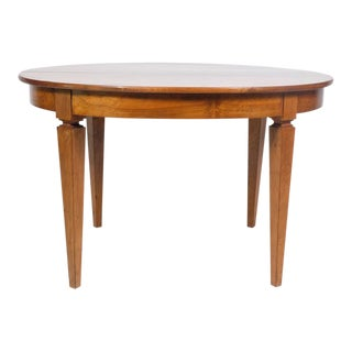Antique French Walnut Round Table Featuring Sabre' Legs For Sale