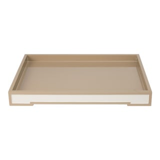 Suffolk Tray Small in Beige - Steven Gambrel for The Lacquer Company For Sale