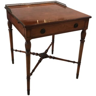 Early 20th Century Antique Rosewood Gallery Top Table For Sale