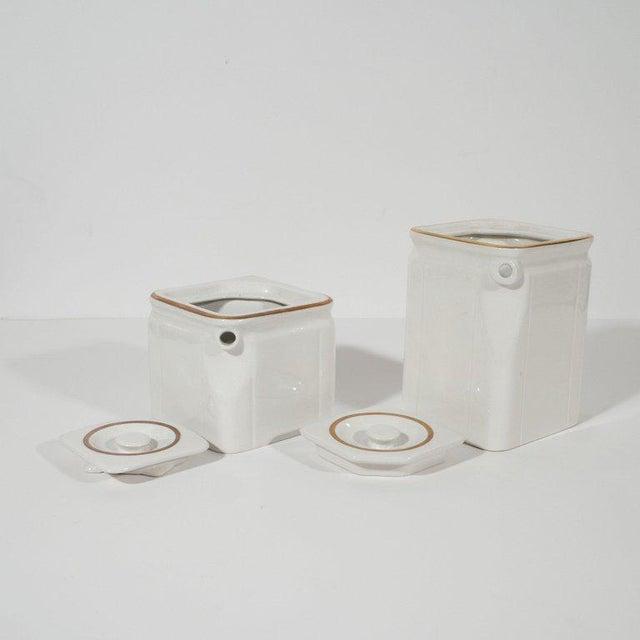 Art Deco Streamline Porcelain Coffee & Tea Pots for the Cunard Cruise Ship Line For Sale - Image 4 of 8