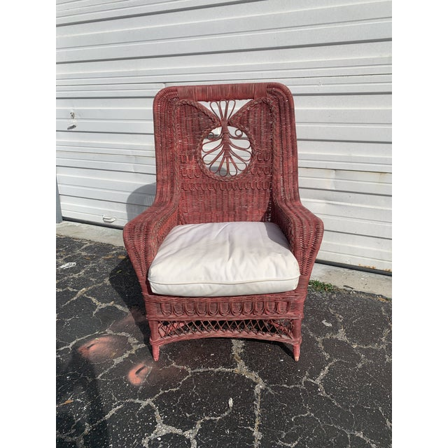 Victorian Polo Ralph Lauren Wicker Chair For Sale - Image 3 of 13