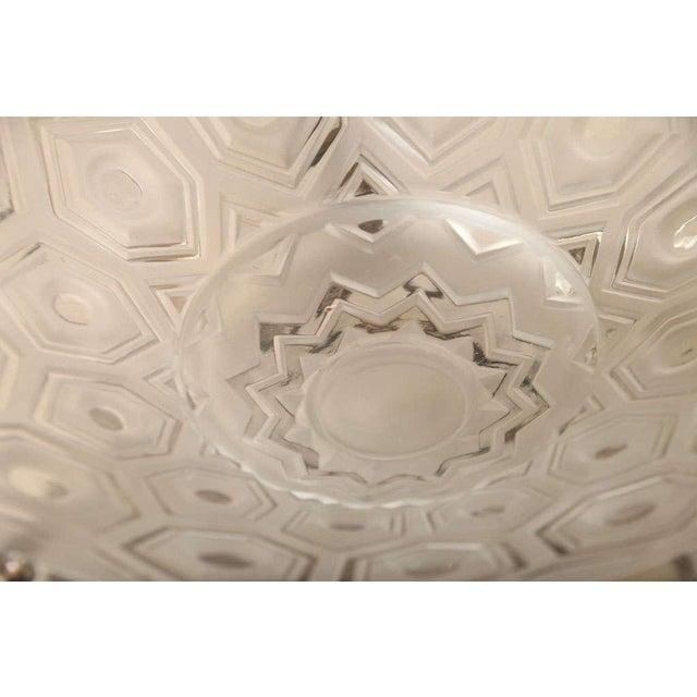 Transparent Art Deco Ceiling Fixture Signed Kovacs For Sale - Image 8 of 10