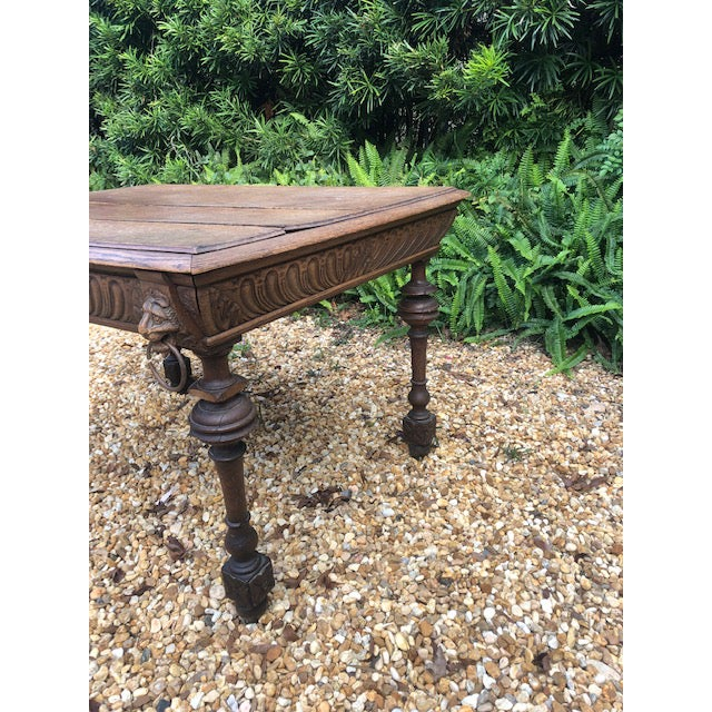 19th Century Center/ Library Table For Sale In Tampa - Image 6 of 9