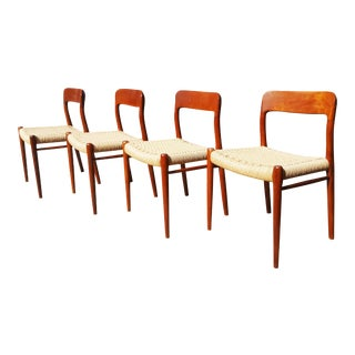 Niels Mollermodel 75 Mid-Century Teak Dining Chairs - Set of 4