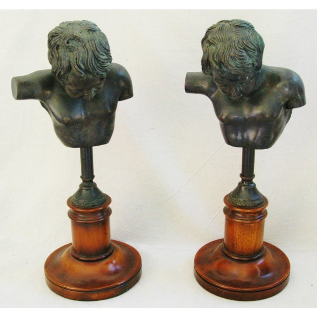1940's English Bronze Busts With Bases - A Pair - Image 7 of 11