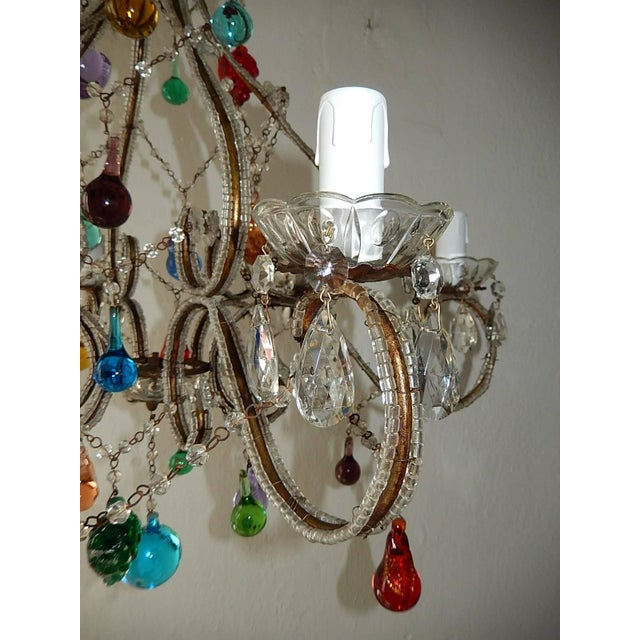 Italian Beaded Murano Colorful Fruit Chandelier, 1920 For Sale - Image 9 of 12