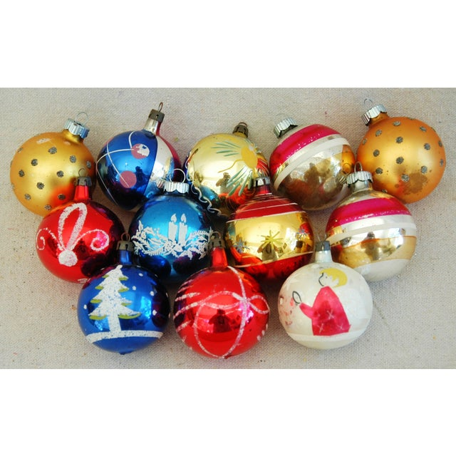 1960s Christmas Ornaments with Box - Set of 12 - Image 2 of 9