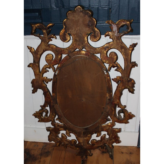 Rococo Rococo Giltwood Wall Mirror For Sale - Image 3 of 5