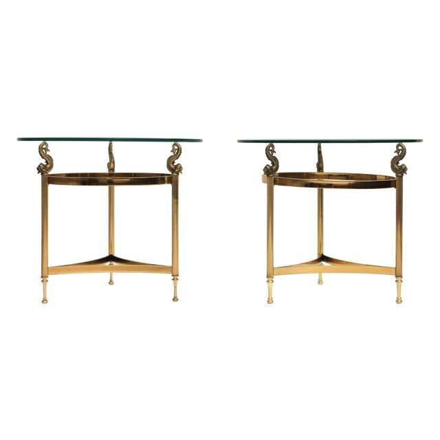 DIA Brass & Glass Side Tables - A Pair - Image 1 of 9