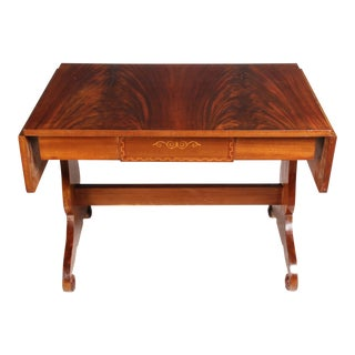 1930s Regency-Style Library Table For Sale