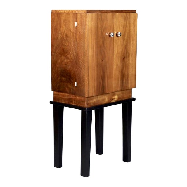 Art Deco Wooden Cabinet on Metal Stand - Image 1 of 9