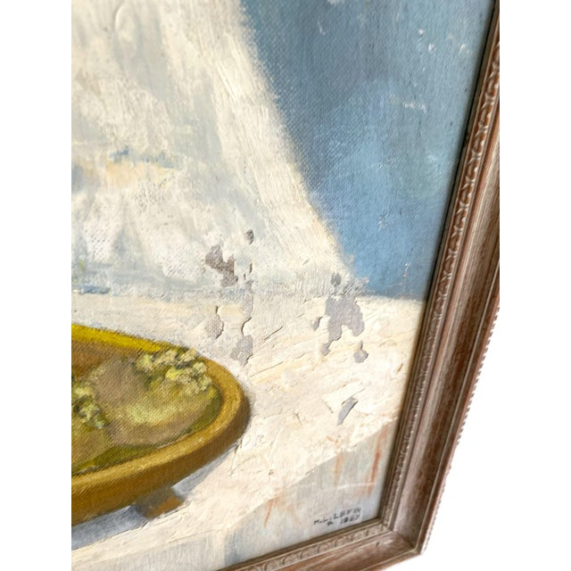 1960's Still Life Painting Oil on Canvas Framed and Signed For Sale In Charleston - Image 6 of 10