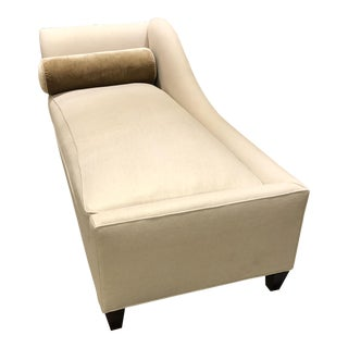 Beige Traditional Chaise Lounge For Sale
