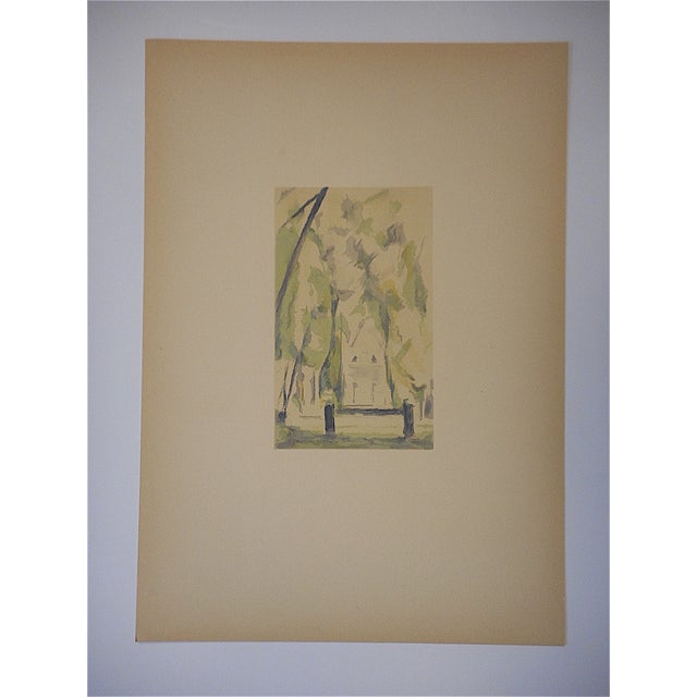 French Vintage Paul Cezanne Screenprint For Sale - Image 3 of 3