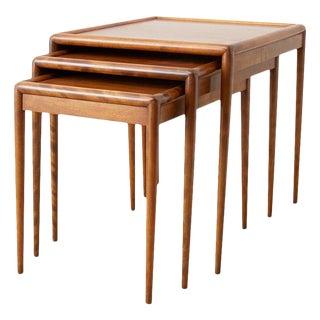 Set of Three Nesting Tables by Robsjohn-Gibbings for Widdicomb For Sale