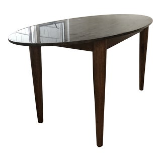 Mid-Century Modern Noir Surf Dining Table For Sale