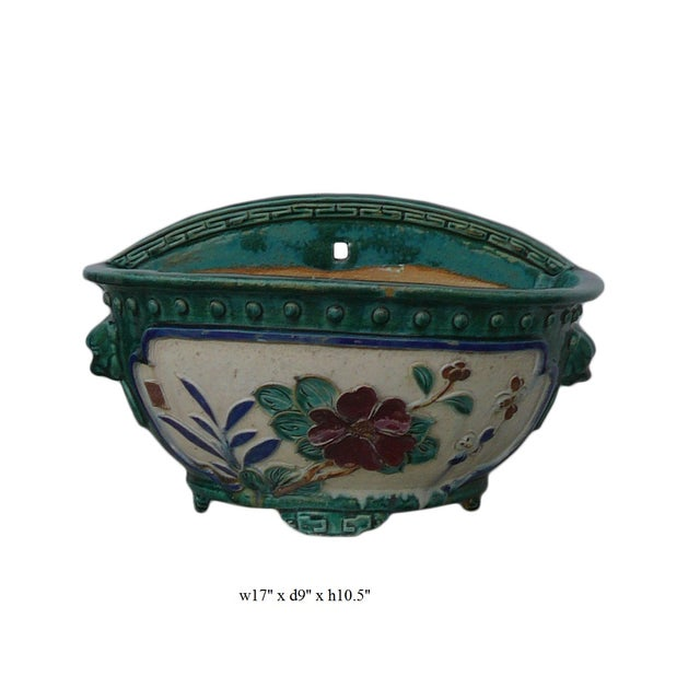 Chinese Ceramic Dimensional Flower Wall Planter For Sale In San Francisco - Image 6 of 6