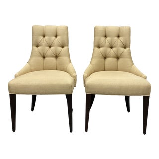 Baker Furniture Thomas Pheasant Ritz Side Chairs - a Pair For Sale